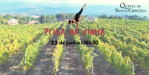 Yoga nas vinhas da Quinta de Santa Cristina